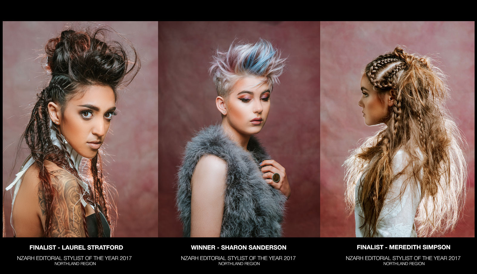 NZARH Editorial Stylist of the Year 2017 Northland Region Winner and Finalists Northland Hair Company